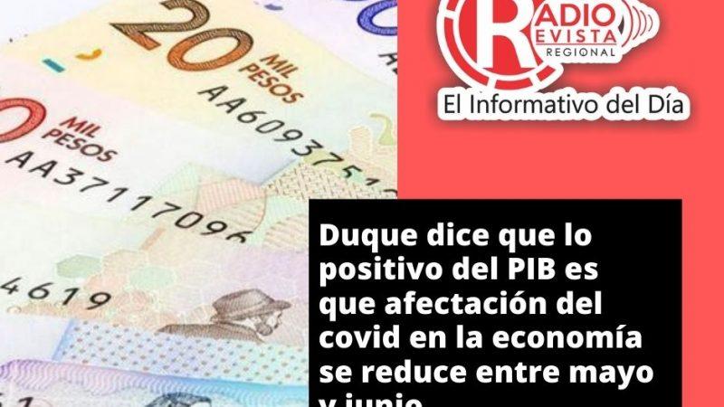 Lo positivo del PIB es que la afectación del covid-19 en la economía colombiana se reduce entre mayo y junio