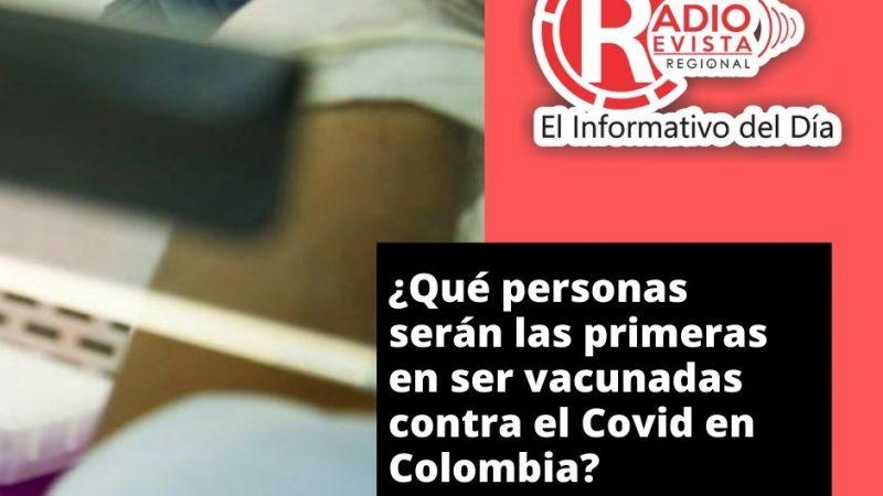 ¿Qué personas serán las primeras en ser vacunadas contra el Covid en Colombia?