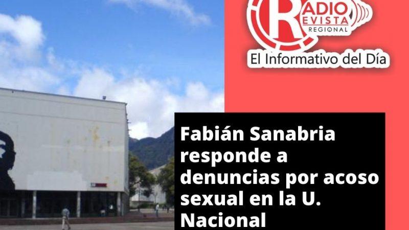Fabián Sanabria responde a denuncias por acoso sexual en la U. Nacional