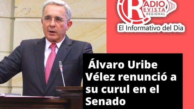 Álvaro Uribe Vélez renunció a su curul en el Senado