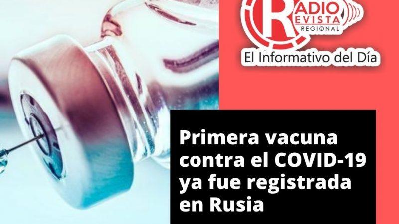 Primera vacuna contra el COVID-19 ya fue registrada en Rusia