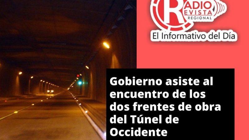 Gobierno asiste al encuentro de los dos frentes de obra del Túnel de Occidente
