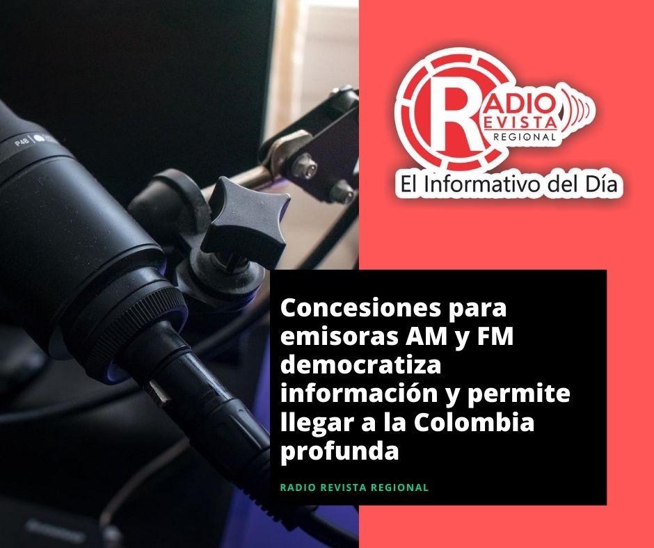 Concesiones para emisoras AM y FM democratiza información y permite llegar a la Colombia profunda