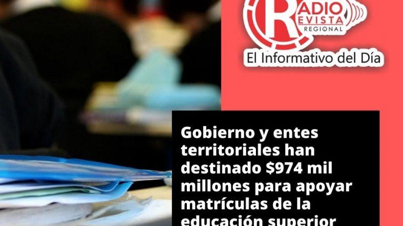Gobierno Nacional y entes territoriales han destinado $974 mil millones para apoyar matrículas de la educación superior.