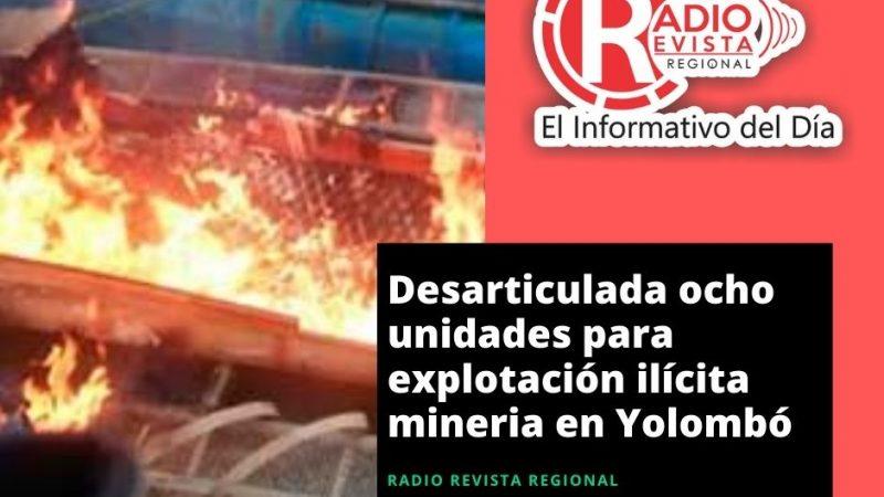 Desarticulada ocho unidades para explotación ilícita mineria en Yolombó