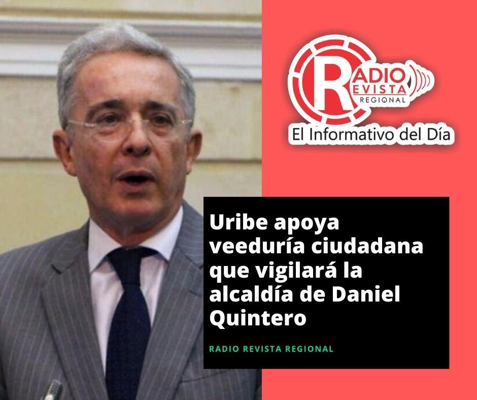 Uribe apoya veeduría ciudadana que vigilará la alcaldía de Daniel Quintero
