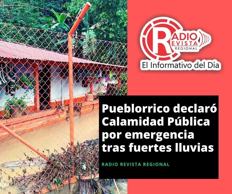 Pueblorrico declaró Calamidad Pública por emergencia tras fuertes lluvias