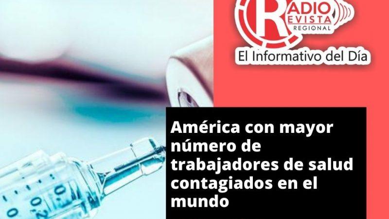 América con mayor número de trabajadores de salud contagiados en el mundo