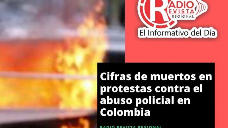 Cifras de muertos en protestas contra el abuso policial en Colombia