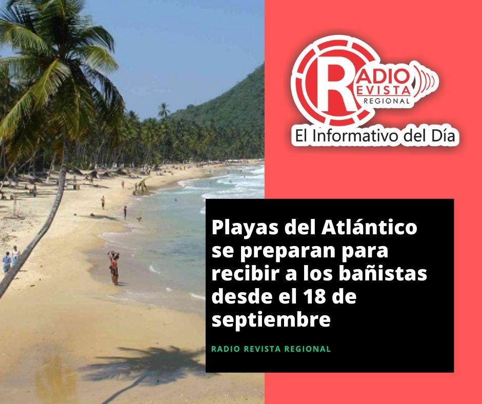Playas del Atlántico se preparan para recibir a los bañistas desde el 18 de septiembre