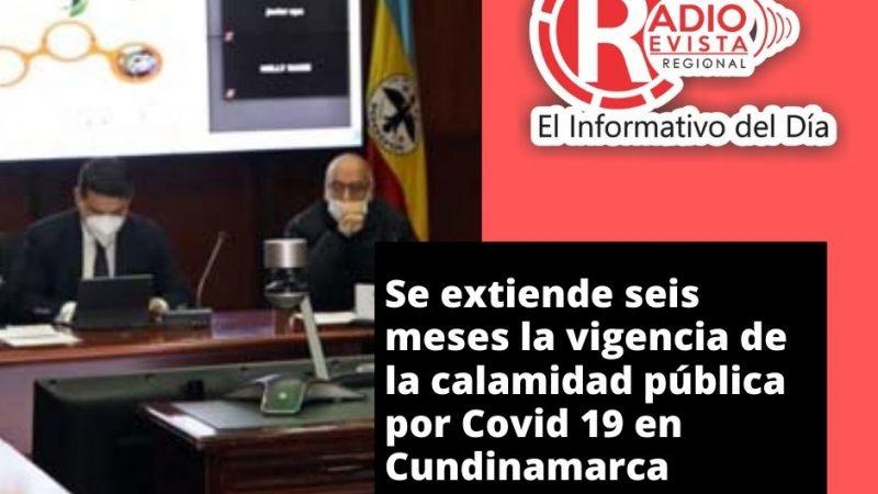 Se extiende seis meses la vigencia de la calamidad pública por Covid 19 en Cundinamarca
