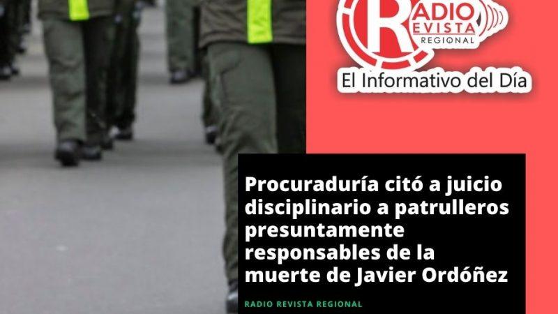 Procuraduría citó a juicio disciplinario a patrulleros presuntamente responsables de la muerte de Javier Ordóñez