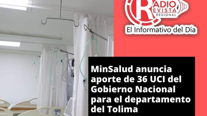 MinSalud anuncia aporte de 36 UCI del Gobierno Nacional para el departamento del Tolima