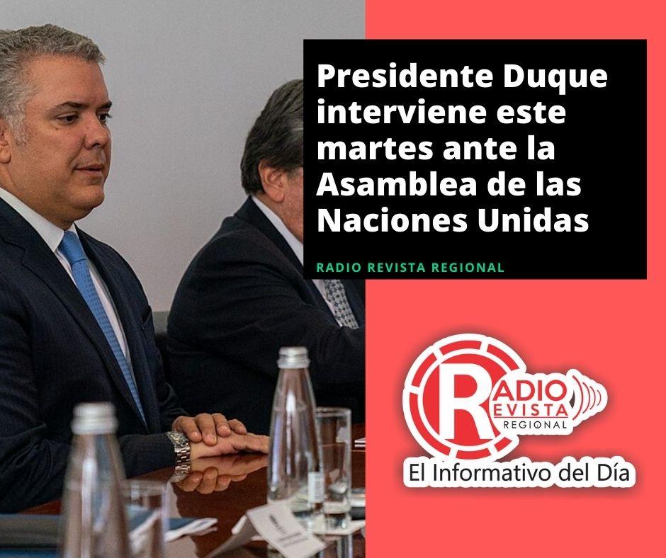 Presidente Duque interviene este martes ante la Asamblea de las Naciones Unidas