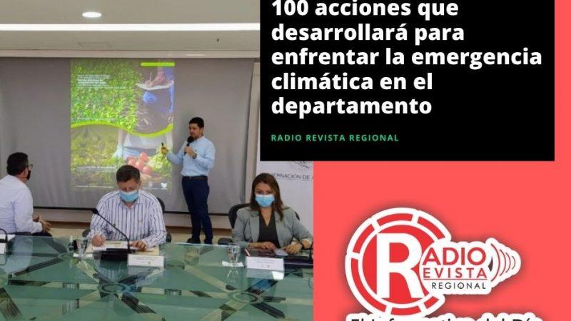 Antioquia presentó las 100 acciones que desarrollará para enfrentar la emergencia climática en el departamento