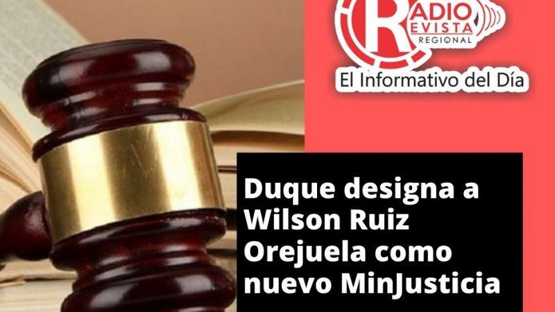 Duque designa a Wilson Ruiz Orejuela como nuevo MinJusticia