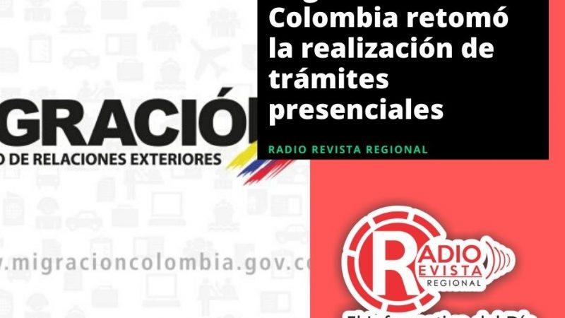 Migración Colombia retomó la realización de trámites presenciales