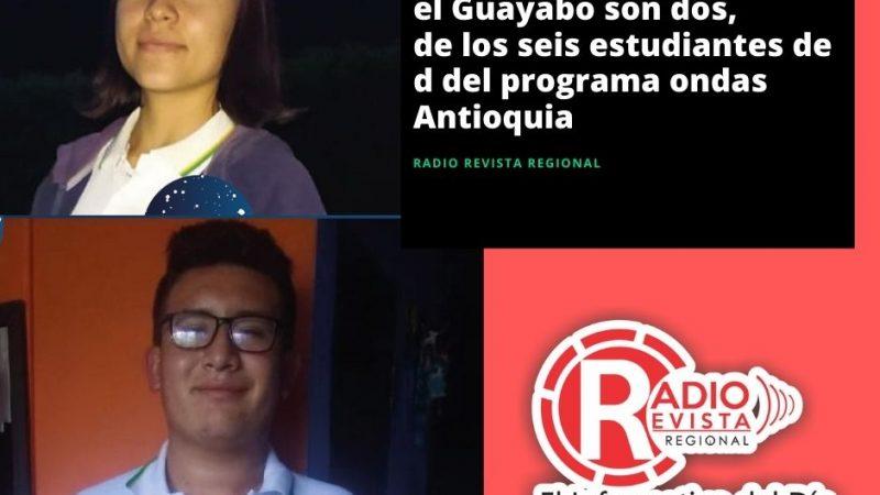 De la Institución Educativa el guayabo son dos, de los seis estudiantes de Antioquia del programa Ondas Antioquia