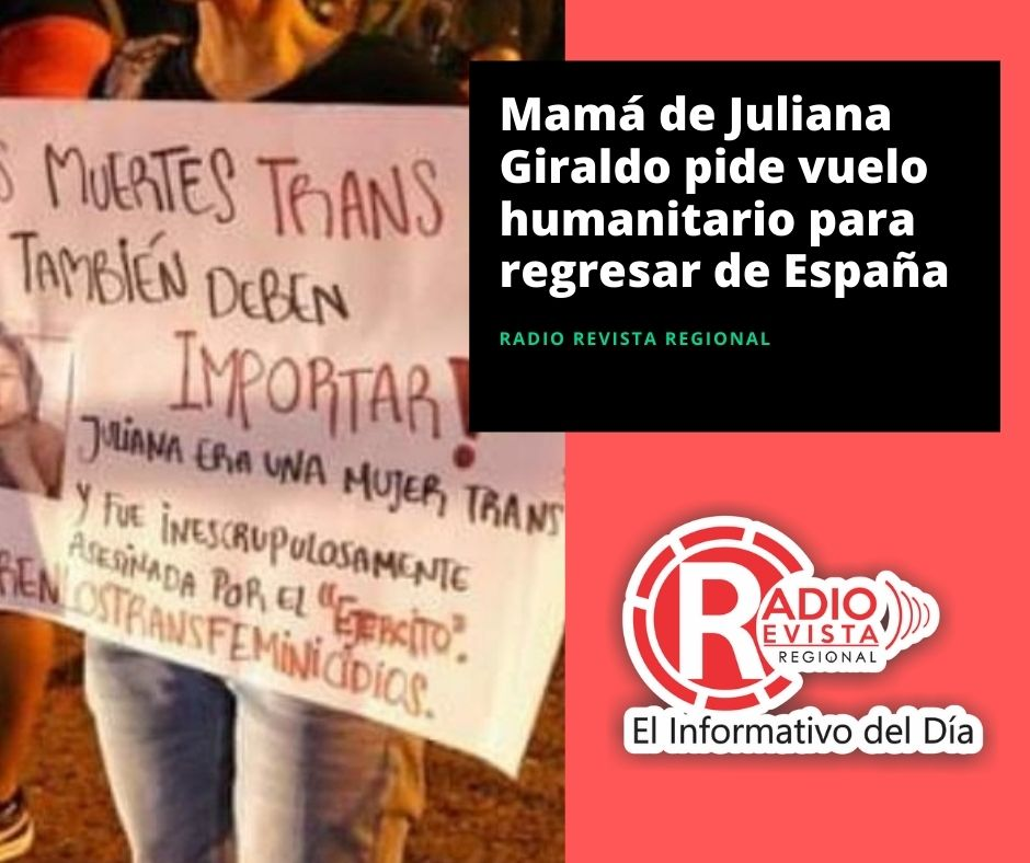 Mamá de Juliana Giraldo pide vuelo humanitario para regresar de España