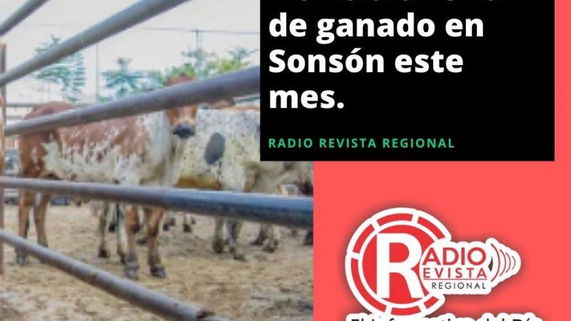 No habrá feria de ganado en Sonsón este mes.