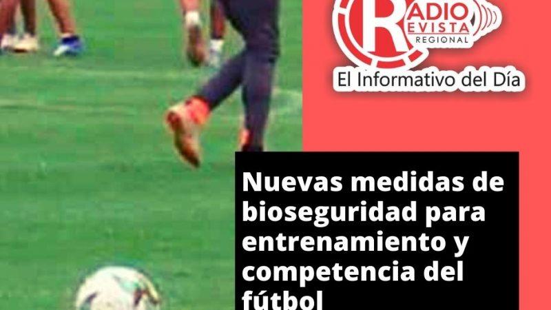 Nuevas medidas de bioseguridad para entrenamiento y competencia del fútbol