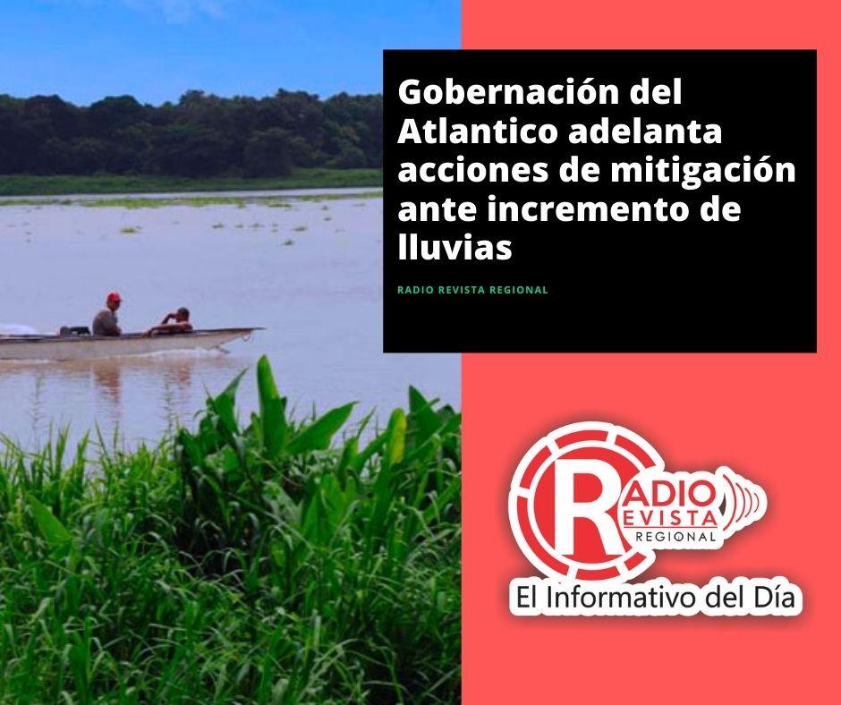 Gobernación del Atlantico adelanta acciones de mitigación ante incremento de lluvias