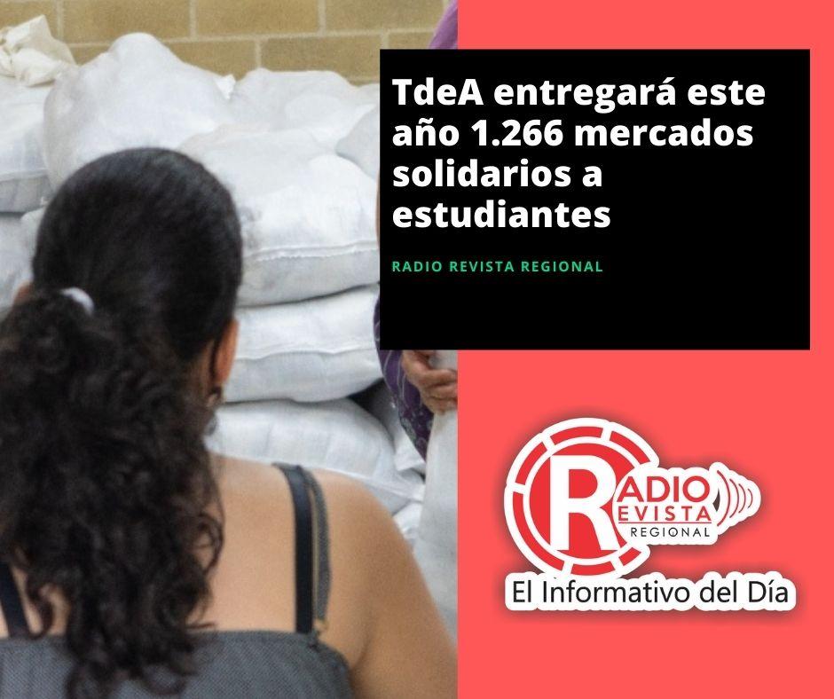TdeA entregará este año 1.266 mercados solidarios a estudiantes