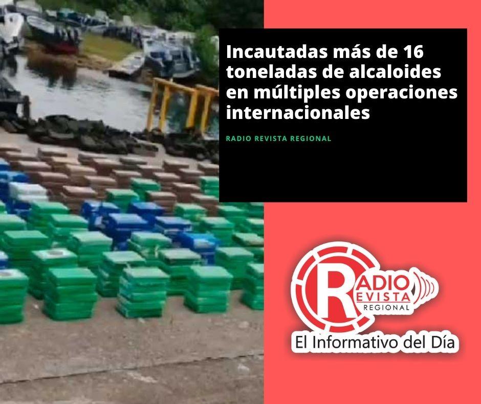 Incautadas más de 16 toneladas de alcaloides en múltiples operaciones internacionales