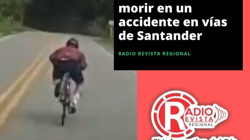 Ciclista se salvó de morir en un accidente en vías de Santander