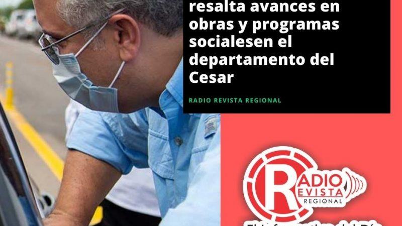 Presidente Duque resalta avances en obras y programas socialesen el departamento del Cesar