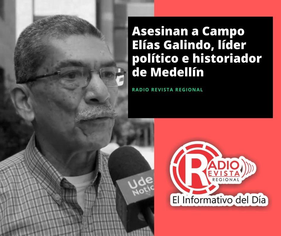 Asesinan a Campo Elías Galindo, líder político e historiador de Medellín