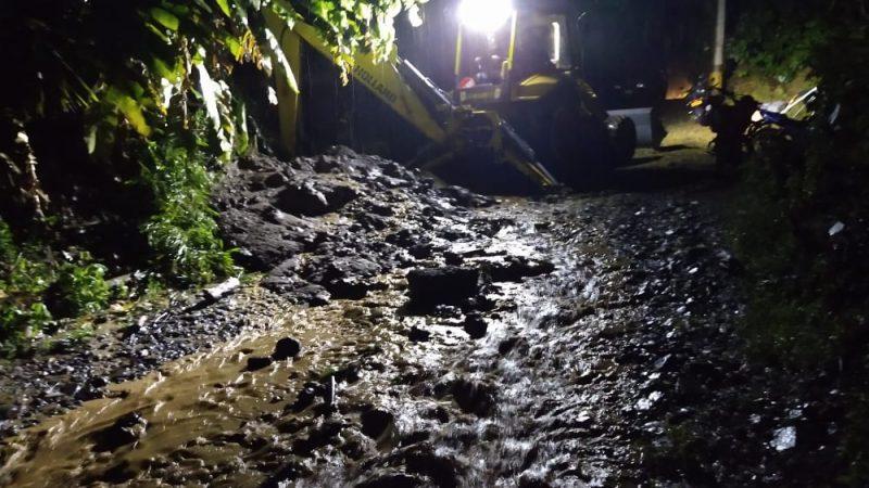 Diez eventos por fuertes lluvias se presentaron el pasado fin de semana en nueve municipios de Antioquia