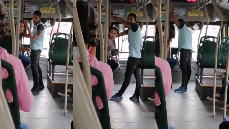 Ciudadanos rechazaron actitud de mujer sin tapabocas en Metrolínea