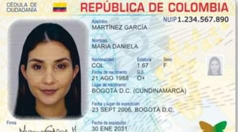 Así es la nueva cédula digital que estará vigente en Colombia desde este lunes.