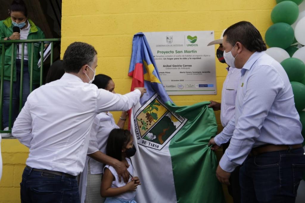 Tarso recibió obras de manos del Departamento de Antioquia