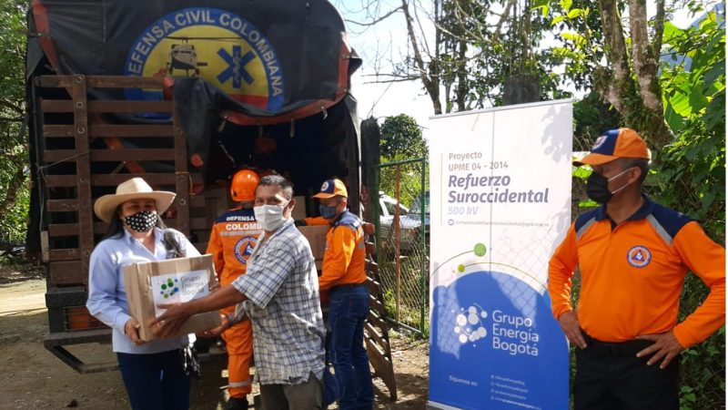 Más de 2.200 familias de Santa Bárbara,Antioquia se beneficiaron con los apoyos del Grupo Energía Bogotá