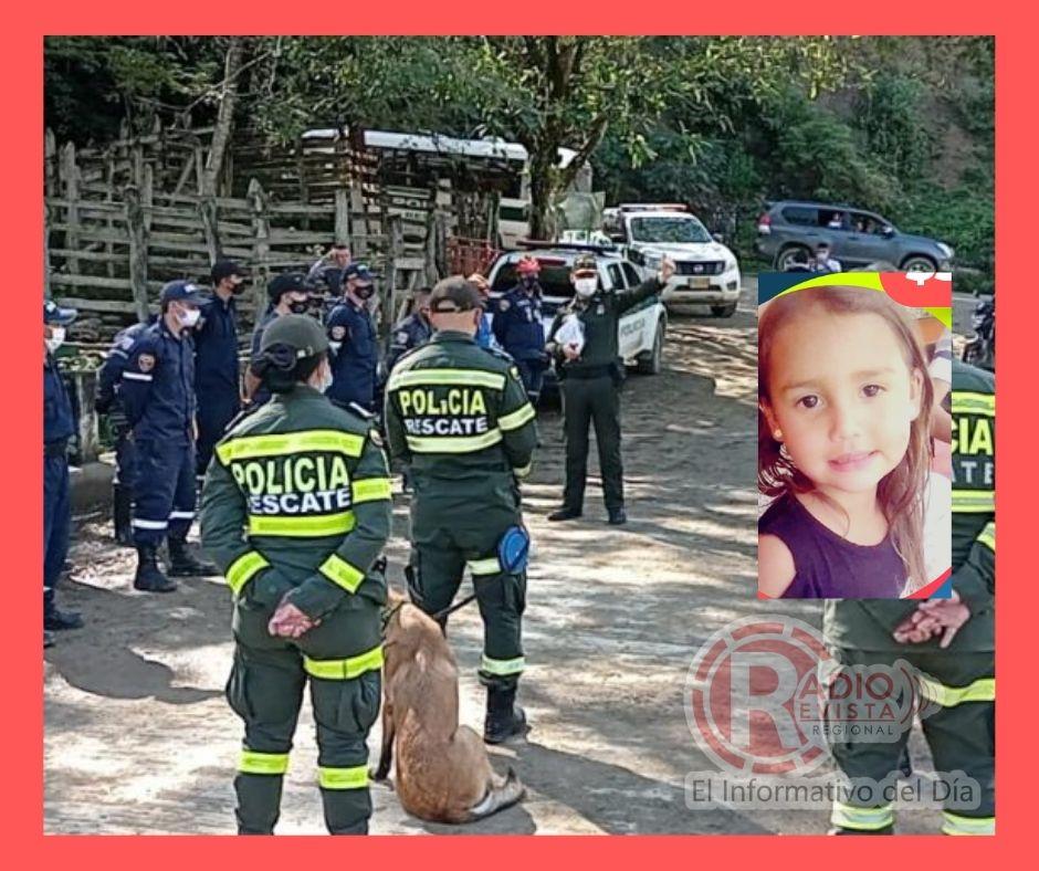 Encontraron el cuerpo sin vida de María Ángel la menor desaparecida en Aguadas Caldas