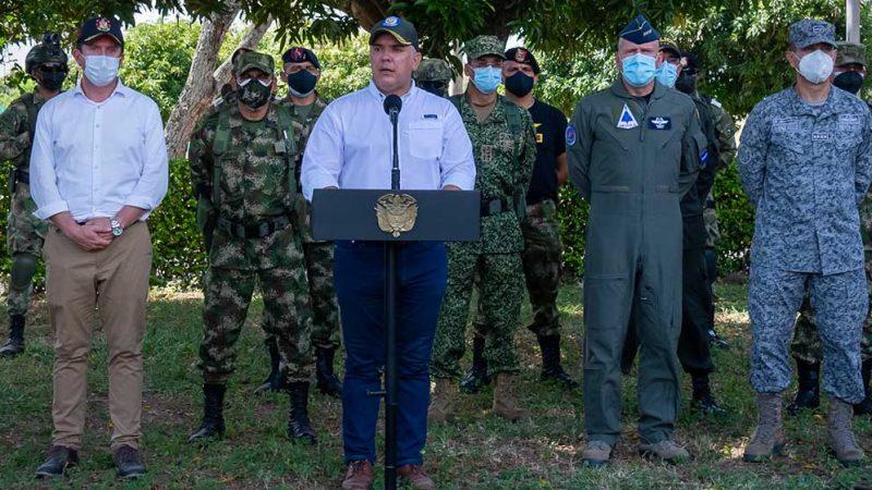 Tenemos en la mira a los narcoterroristas del Eln, de la 'narcotalia' y de todos los grupos criminales: Duque