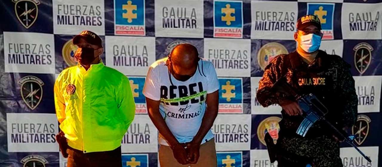 Capturado cabecilla del 'Clan del Golfo' señalado de ejecutar homicidios y desplazamientos en la región de Montes de María