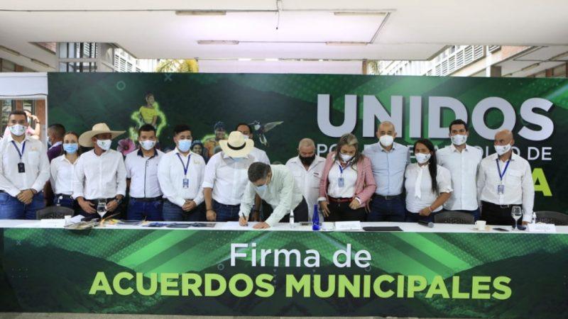 Son ya 77 los municipios que han firmado acuerdos Municipales en Antioquia