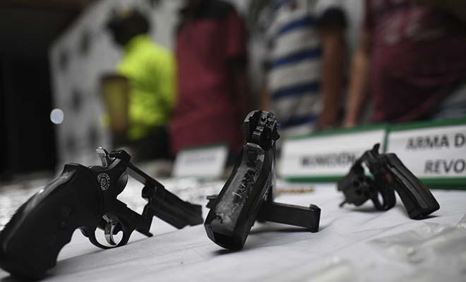 Capturados tres integrantes del GDCO 'la salle' incautadas armas y estupefacientes.