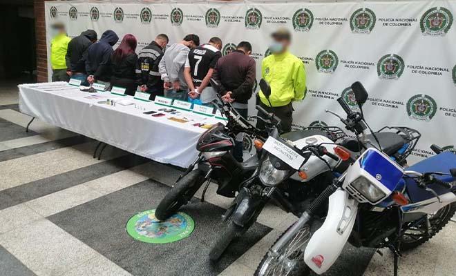 En Medellin 11 capturados implicados en casos de hurtos a motocicletas y bicicletas.