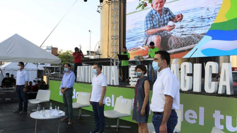 En Puerto Berrío, el gobernador Aníbal Gaviria Correa presentó la nueva Secretaría de Turismo de Antioquia