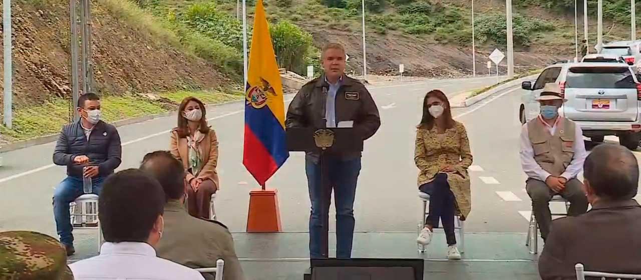 Duque advierte que el 2021 será el año de los mayores golpes a los grupos narcoterroristas en Nariño