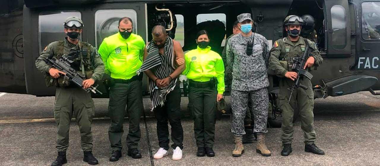 Capturado alias 'Porrón', cabecilla del 'Clan del Golfo', encargado de controlar rutas del narcotráfico en Meta y oriente del país