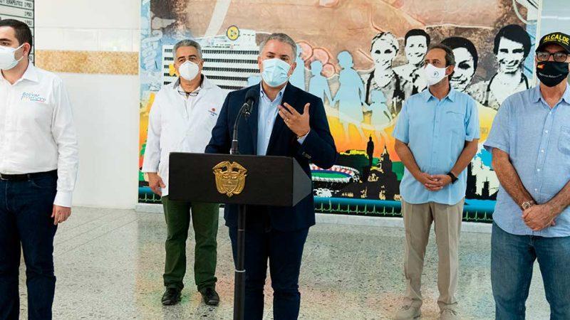 'Este es un triunfo importante para nuestro país', dijo el Presidente al anunciar que Colombia llega a los dos millones de vacunados
