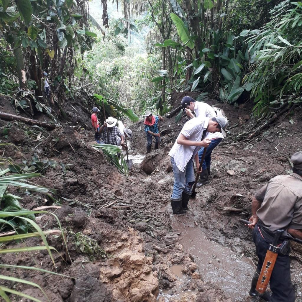 Fuertes lluvias de las últimas horas generan emergencias en Vigía del Fuerte, Nariño y Salgar, este último decretó Calamidad Pública