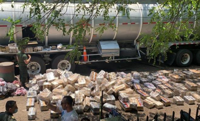 Incautado gigantesco cargamento de marihuana en Caldas, Valle del Cauca y Cauca
