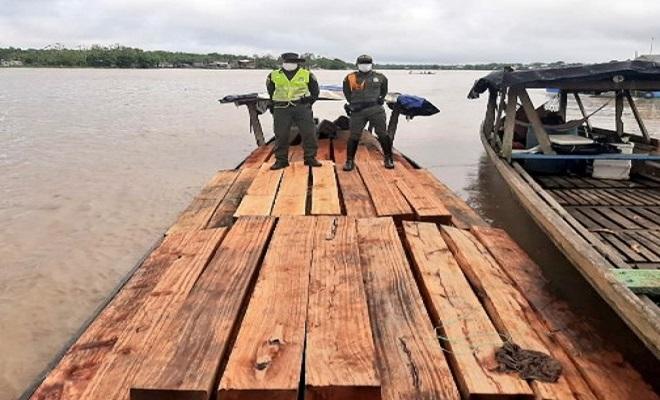 26 metros cúbicos de madera ilegal fueron incautados en el municipio de Quibdó