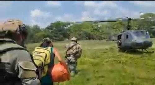 Rescate de uno delos Jovenes desaparecidos en el Bajo Cauca